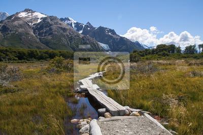 Krajobraz Górski W drodze NA Fitz Roy.