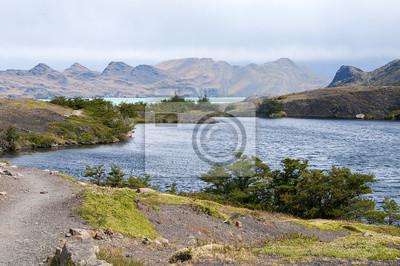 Krajobraz Parku Narodowego Torres del Paine.