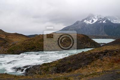Krajobraz Parku Torres del Paine w Chile