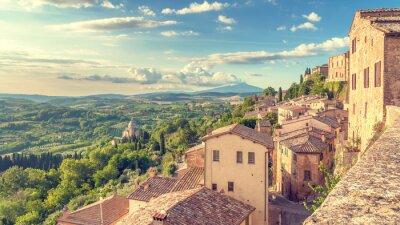 Obraz Krajobraz Toskanii widziana z murów Montepulciano, ja