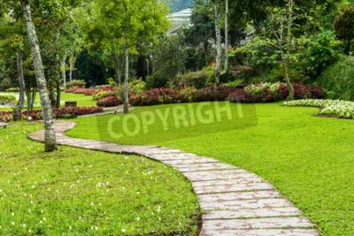 Obraz Krajobrazu w ogrodzie. Ścieżka w ogrodzie.
