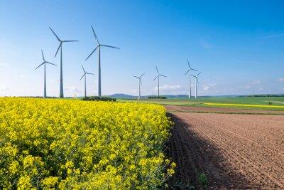 Obraz Krajobrazu wiejskiego z windwheels widziałem w Niemczech