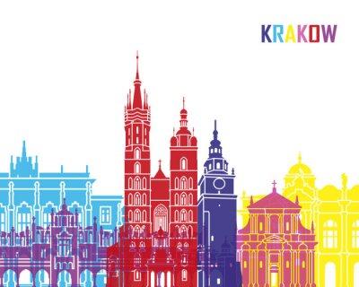 Obraz Kraków skyline pop
