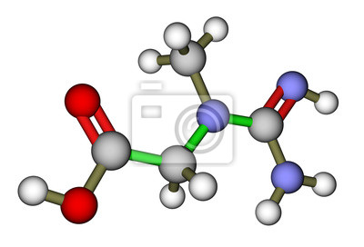 Kreatyna 3D struktura molekularna