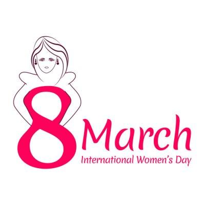 Kreatywne projektowanie kartkę z życzeniami dla międzynarodowych Kobiet koncepcji dzień.