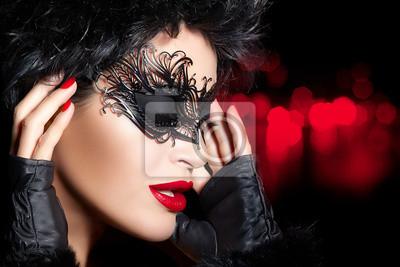 Obraz Kreatywny Makijaż Artystyczny Maskarada High Fashion Portret