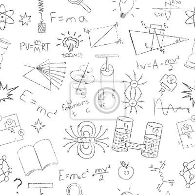Kreda efekt rysowania. wzory fizyka, elementy Lab