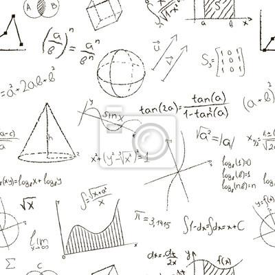 Kreda efekt rysowania. Wzory matematyczne i wykresy na białym