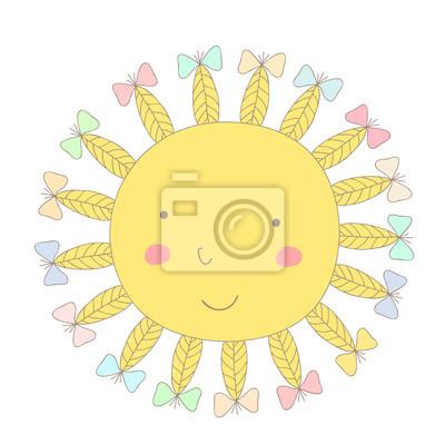 kreskówka wydrukować ze słońcem