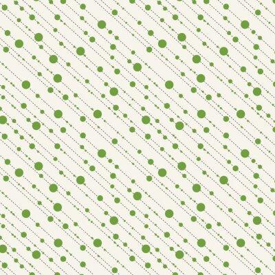 Obraz Kropki i kreski ukośne szwu w zielone