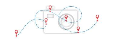 Obraz Kropkowana ścieżka z punktami