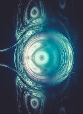 Obraz kryształ, Kreatywnego projektowania tle, Fractal kolorowym d style z