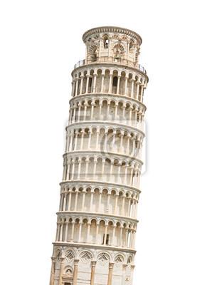 Obraz Krzywa Wieża w Pizie samodzielnie na białym tle