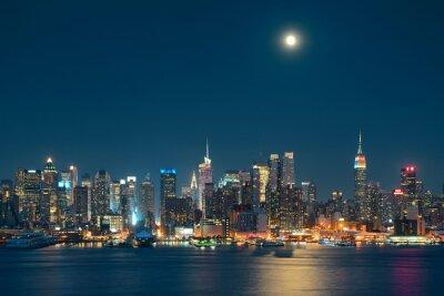 Obraz Księżyc Rise Manhattan
