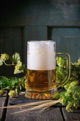 Obraz Kubek piwa lager
