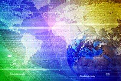 Obraz kuli ziemskiej z mapy świata