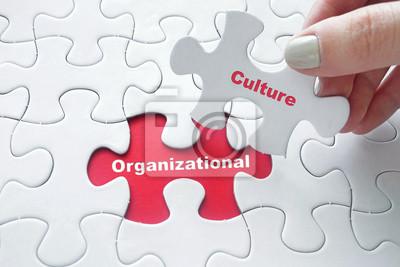 Obraz Kultura organizacyjna na układanki