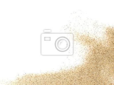 Obraz kupie piasek pustyni na białym tle
