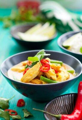 Obraz Kurczak curry z ryżem