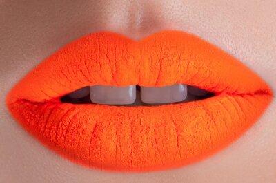 Obraz Kwas piękne pomarańczowe usta