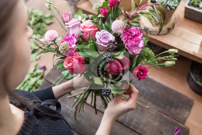 Obraz Kwiat sklep tle