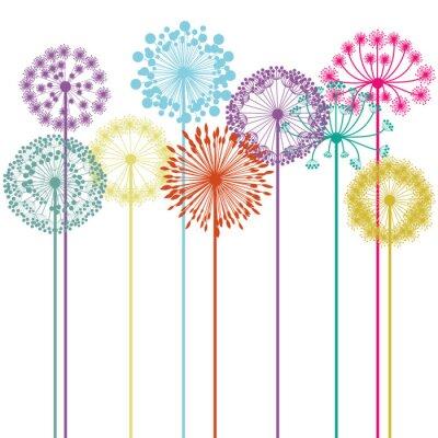 Obraz kwiatów projektowania