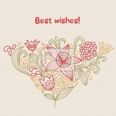 Kwiatowy kartkę z życzeniami