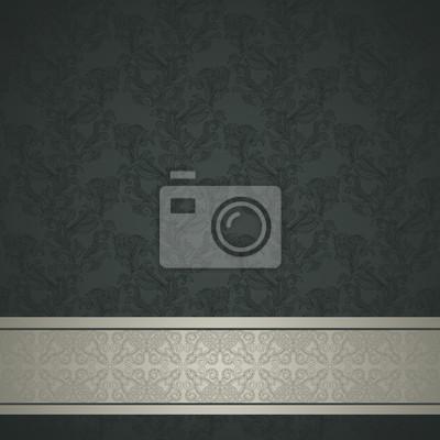 Kwiatowy wzór tła z ozdobnych pasa. Retro design