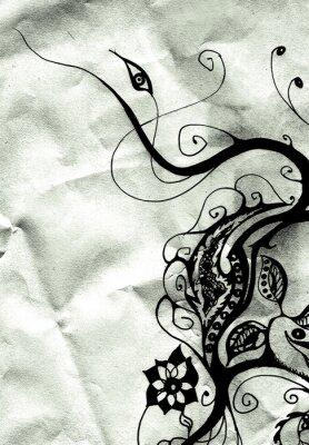 Obraz kwiatowy wzór w wieku papieru 2