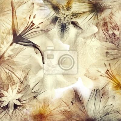 kwiatu tła w pastelowych kolorach