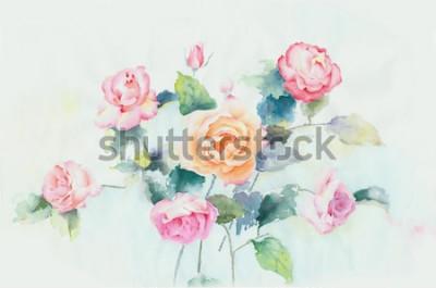 Obraz Kwiaty są pełne romansu, projekt liści i kwiatów