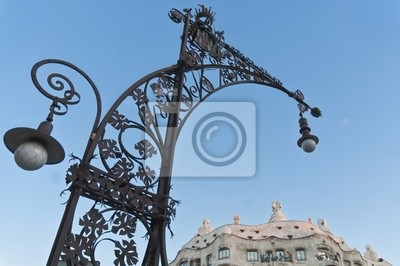 Obraz La Pedrera Dom przy ulicy Paseo de Gracia w Barcelonie, Hiszpania