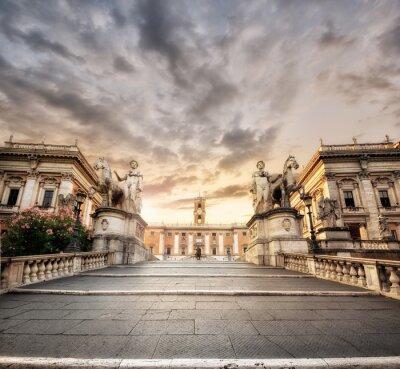 Obraz La scalinata del Campidoglio, Rzym