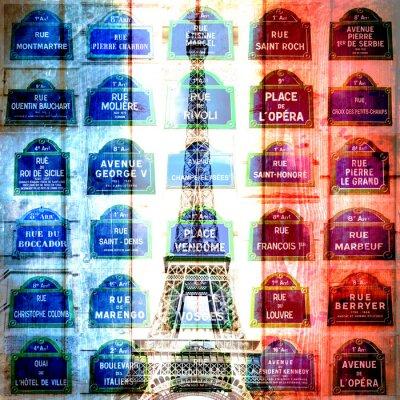 Obraz la tour e le vie di Parigi