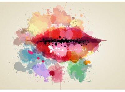Obraz labbra donna