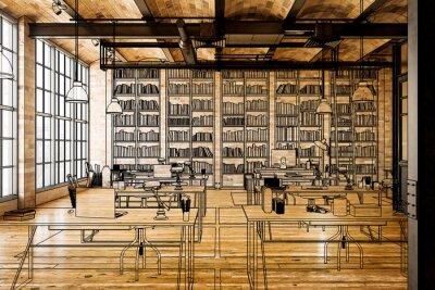 Obraz Laboratory for Art Education (illustration) - 3d visualization
