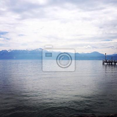 Lac Leman et ses montagnes