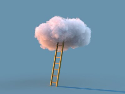 Obraz ladder to the white cloud