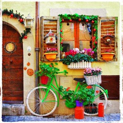 ładne uliczki małych wioskach włoskich