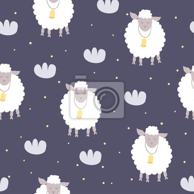Ładny nadruk z owieczką