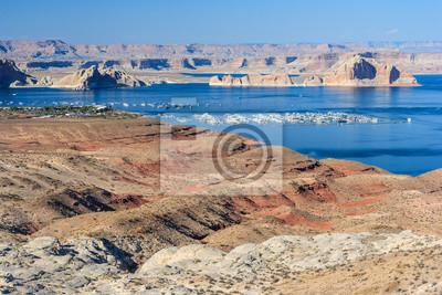 Lake Mead między Nevada i Arizona