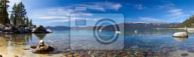 Obraz Lake Tahoe Panoramiczny Plaża Krajobraz