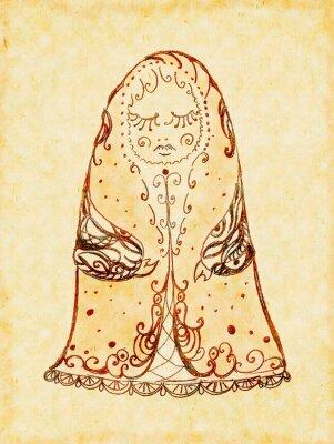 Obraz Lalka Matryoshka z zamkniętymi oczami