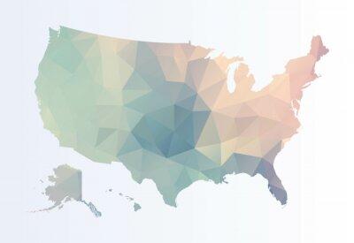 Obraz Łamana mapa USA