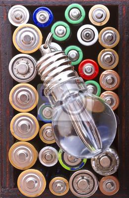 Lampa tle przepływu i baterie