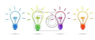 Obraz lampadina, pomysł, Colori, creatività, idee