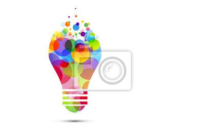 Obraz lampadina, pomysł, colori, creatività, pomysł