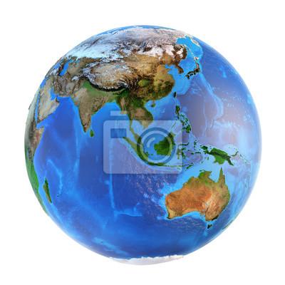 landforms Planet Earth koncentruje się na Azji