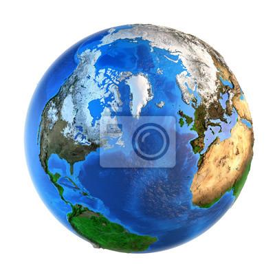 landforms planeta Ziemia z perspektywy Północnej