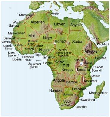 Afrika Karta Guinea.Obraz Landkarte Von Afrika Na Wymiar Karta Afryka Mapa Redro Pl